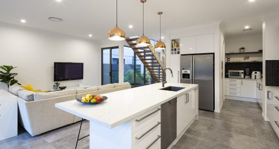 Small Lot Architecture Kitchen design by PlaceMate Brisbane Architects